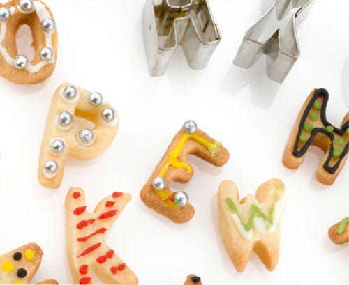 Kitchencraft alphabet cookie cutters