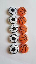 10pc 35mm Fridge Magnet Novelty Cute Fun Football Basketball Magnets Children