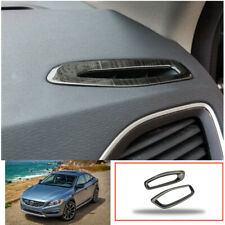 stainless  Upper Air Vent Outlet Cover Trim  For VOLVO V60 S60 2012-2017