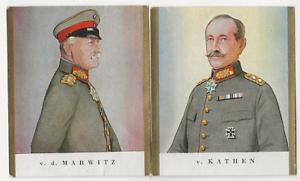 62-493-SAMMELBILD-v-d-MARWITZ-GENERAL-OFFIZIER-v-KATHEN-GENERAL-INFANTRIE