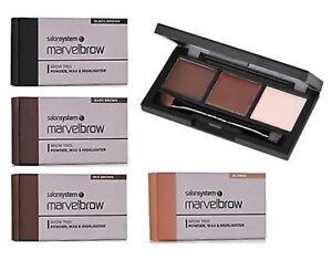 Salon-System-Marvelbrow-Brow-Eyebrow-Trio-Powder-Wax-Highlighter