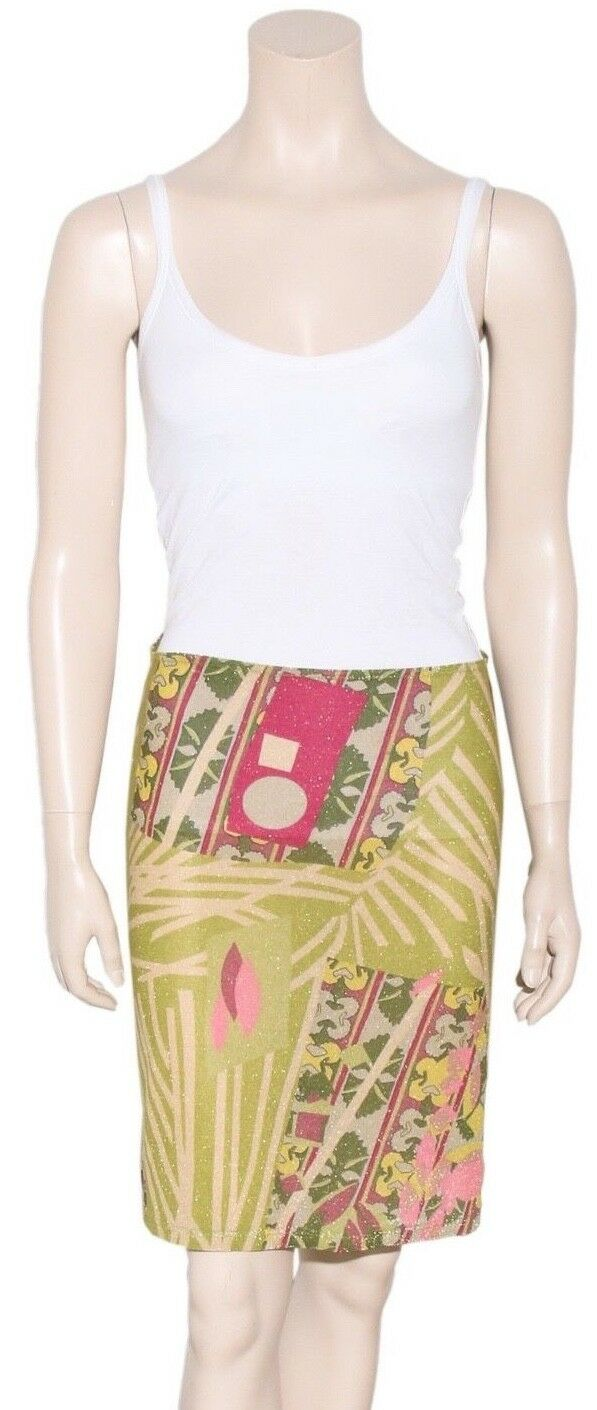 CHRISTIAN LACROIX Printed Shimmer Skirt (SIZE L)