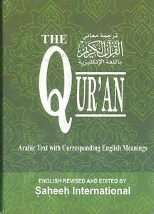 Details about LARGE: The Quran - Saheeh International -Arabic with English  Meaning (Hardback)