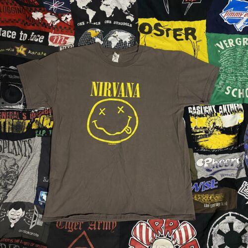 Nirvana Shirt 1992 Grunge Rock Large
