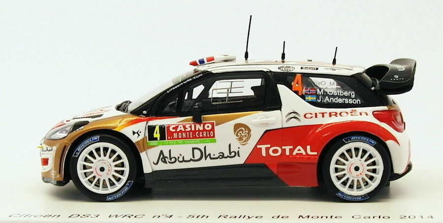Spark 1 43 Scale S3789 - - - Citroen DS3 WRC  4 - 5th Monte Carlo 2014 9feea6