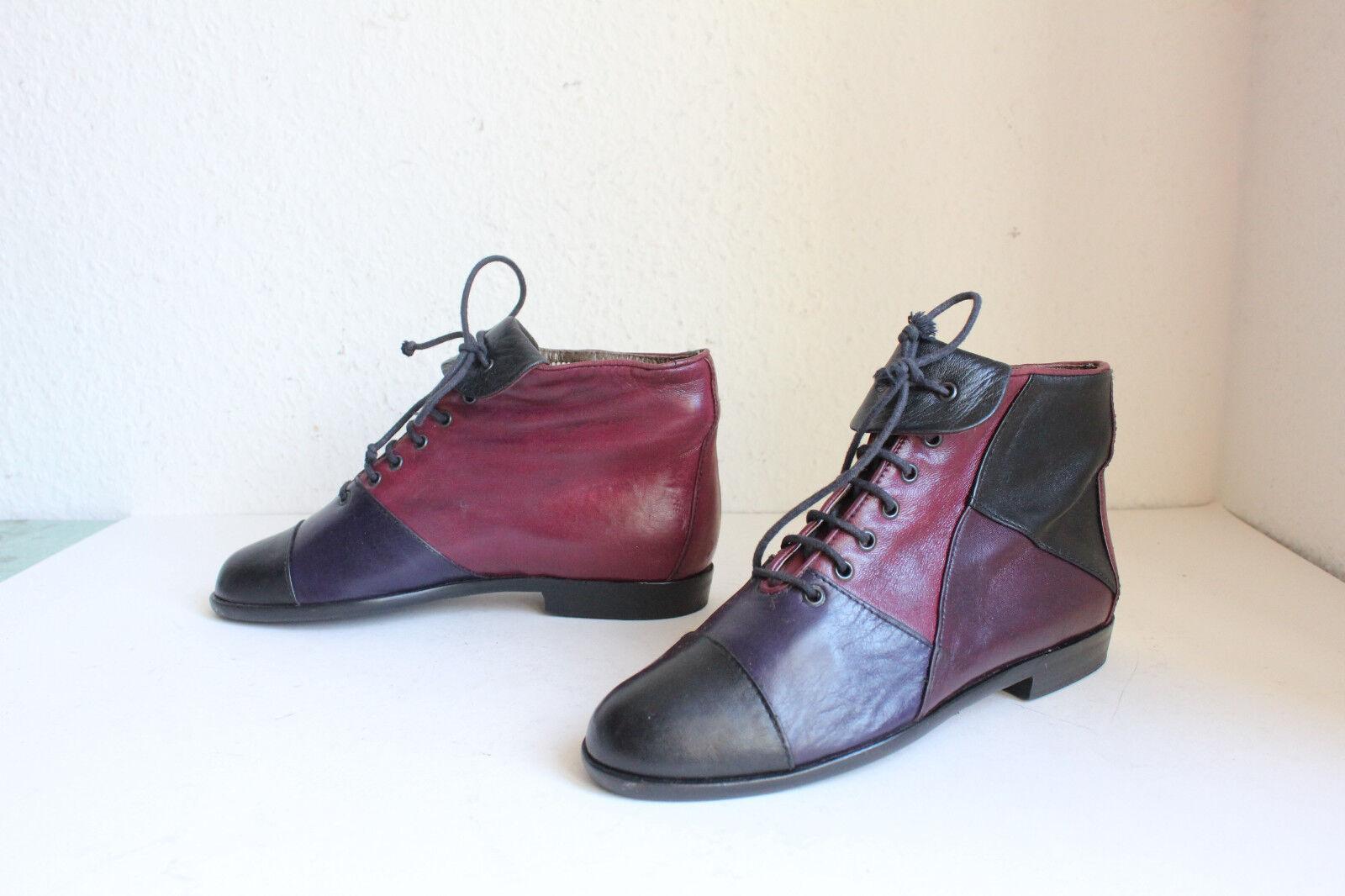 Vintage Giorgio elegante botines de cuero genuino multicolor eu:36 Made in Italy