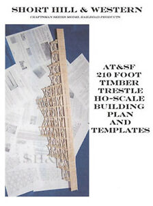 Ho scale trestle plans build this 210 long and 80 high trestle ebay image is loading ho scale trestle plans build this 210 039 maxwellsz