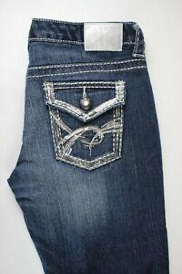 Maurices Premium Capri Distressed Womens Jeans Sz 5/6 Reg