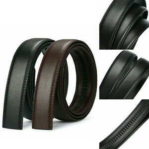 Men-039-s-Luxury-Buckle-Belt-Brown-Black-Ratchet-Strap-Automatic-Leather-Jeans