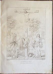 Stampa-incisione-1850s-La-morte-di-Gesu-in-croce-Tintoretto-Rizzardini-Nardelli