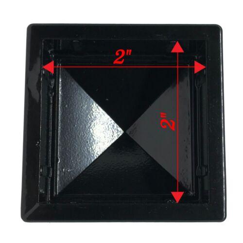 """2/"""" x 2/"""" Decorex Hardware Aluminium Pineapple Post Cap for Metal Posts Black"""
