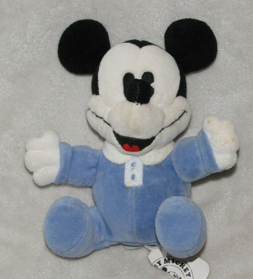 Gund Stuffed Plush 7263 Baby Mickey & Co Company Blau Mouse Velour Rattle Spielzeug
