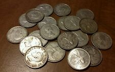 $5.00 Face Value 20 ct. 80% Silver Canadian Quarters.