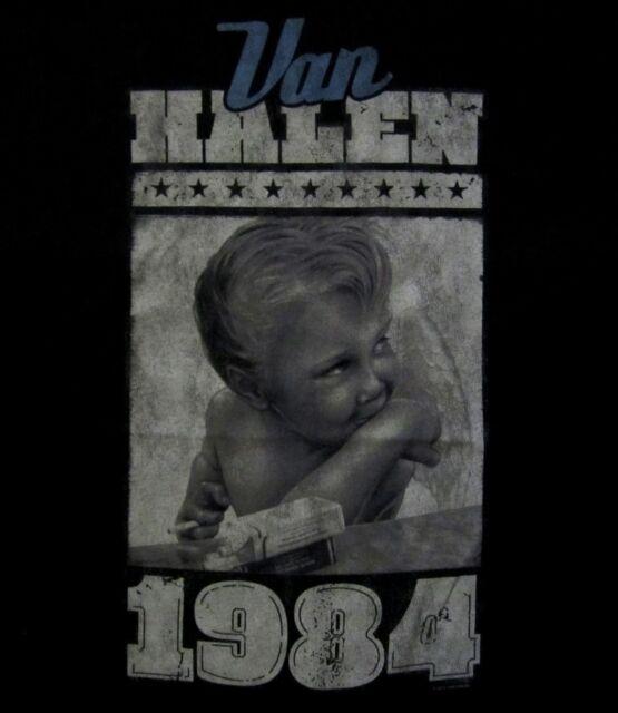 VAN HALEN cd cvr 1984 VINTAGE SMOKING ANGEL BABY Official SHIRT LRG new