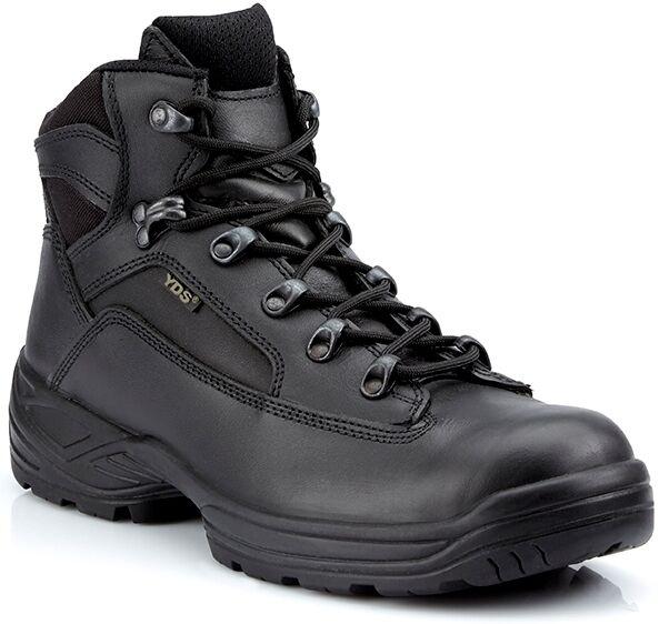 Yds pars Caviglia Combat PATROL CUOIO POLIZIA SICUREZZA Leggero Combat Caviglia BOOT NERO a7f41b