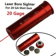 Shotgun 20 GA Caliber Cartridge Laser Bore Sighter Boresighter
