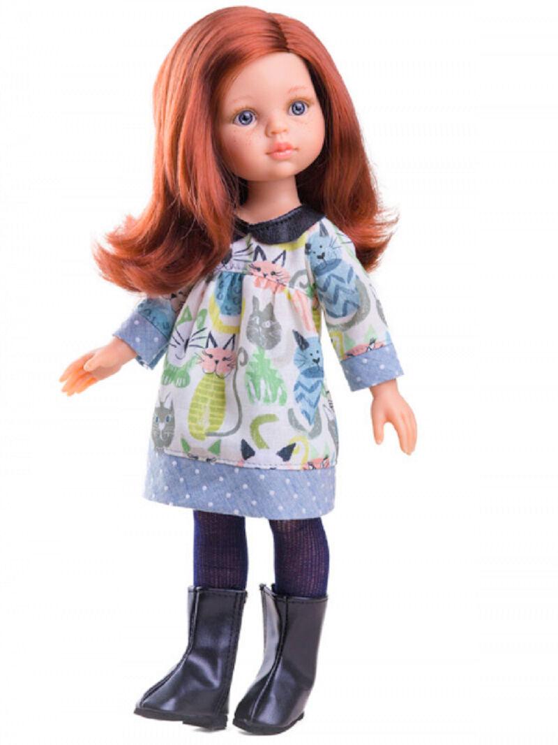 Artista bambola GIOCO PUPAZZO Cristi circa 32 cm i capelli rossi PAOLA REINA 4646