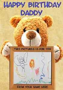 A5 Personalised Greeting Card Birthday Card Teddy Bear Pids12