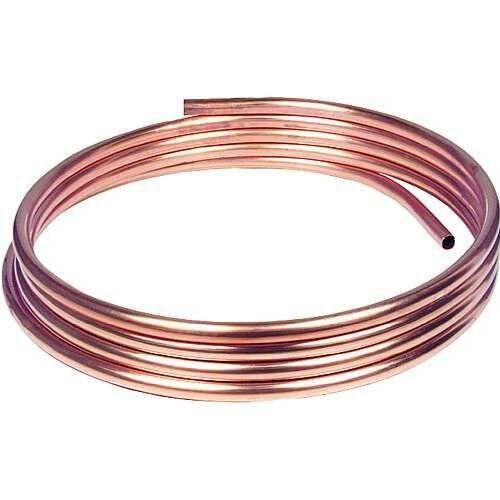 1,0m Kupfer-Installationsrohr weich, 8 x 1,0 mm CU Rohr 8mm bis max. 50m lieferb