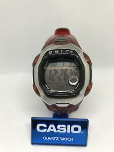 Details about Casio G Shock GL 150 2463 Red Rare Watch 200M WR Vintage Moon Age G Lide