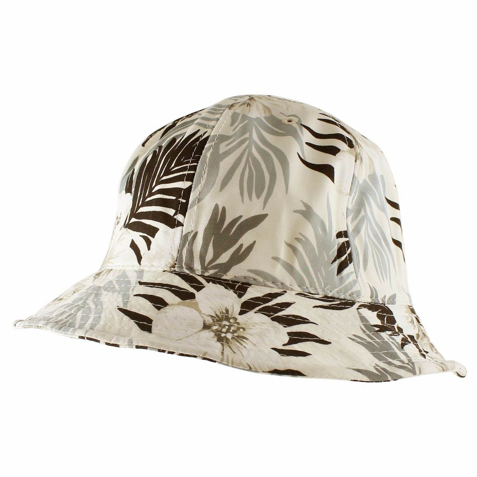Tropical Hawaii Women Cotton Hiking Fishing Beach Sun Bucket Hat Women Hawaii Men Year Round 129f44