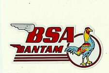 BSA BANTAM WING Vinyl DECAL STICKER NORTON TRIUMPH MOTORCYCLE WORKSHOP ARIEL
