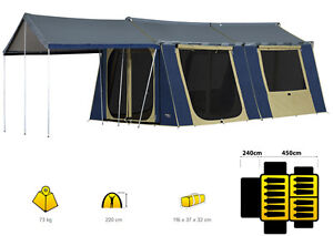 Image Is Loading OZTRAIL 12 X 15 CANVAS CABIN TENT NEW