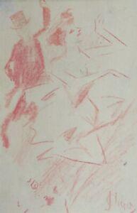 Jules-Cheret-1836-1932-Studie-Paar-Taenzer-Roetel-Joseph-Cheret-C-1900
