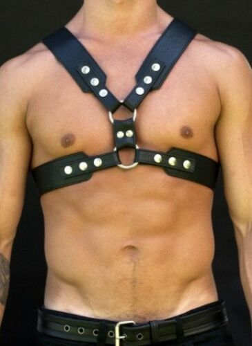 Body Harness Male Harness 02 Mens Real Leather Chest