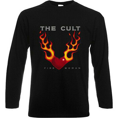 New The Cult *Fire Woman Rock Music Men/'s Black T-Shirt Size S to 3XL