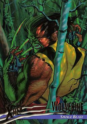 Base Trading Card #100 X-Men Fleer Ultra Wolverine CHECKLIST 1996
