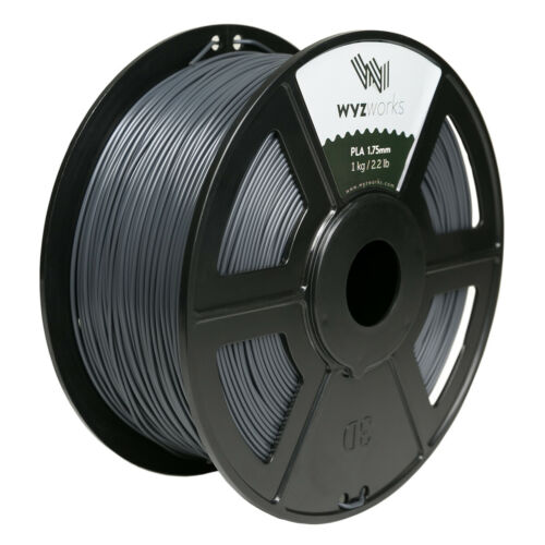 WYZworks Premium PLA 1.75mm 3D Printer Filament MakerBot Monoprice 1kg//2.2lb USA