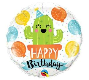 Image Is Loading Set Of 2 Party CACTUS Happy Birthday Balloons