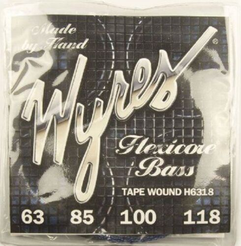 WYRES BLACK NYLON TAPE COVERED BASS STRINGS FREE UK SHIPPING
