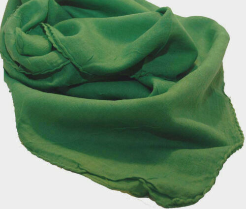 Foulard Bandana Coton Coton Uni Forêt Vert Env 95 X 95 Cm