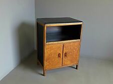 VINTAGE ART DECO STYLE OAK STORAGE CABINET CUPBOARD