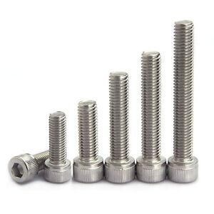 M1.4~M5 DIN912 304 A2 Stainless Cylindrical Socket Cap Head Screws Allen Bolts