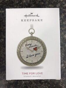 2018-Hallmark-Keepsake-Time-For-Love-Metal-Christmas-Ornament-NIB