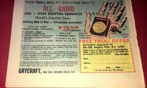 VINTAGE-WORLD-039-S-SMALLEST-RADIO-MINIATURE-PROMO-1960-039-S