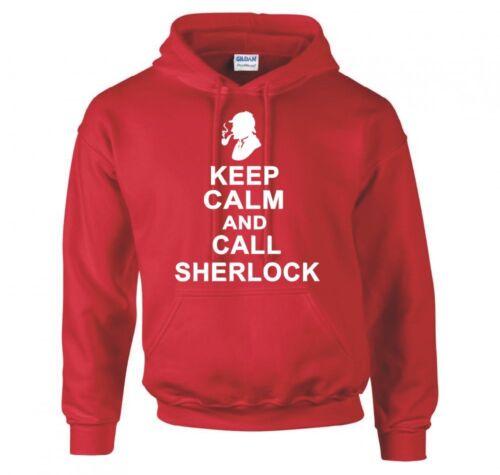 """Sherlock holmes /""""keep calm and call sherlock/"""" sweat à capuche neuf"""