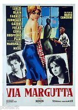 manifesto 2F originale VIA MARGUTTA Camerini Cristina Gajoni Yvonne Forneau 1960