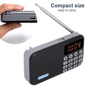 Portatile Mini DAB DAB+ FM Radio Digitale LCD Bluetooth MP3 Lettore USB  kit.
