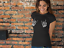 Skeleton Rock Boob Hands T-Shirt Halloween Lazy Costume Outfit Funny Womens L321