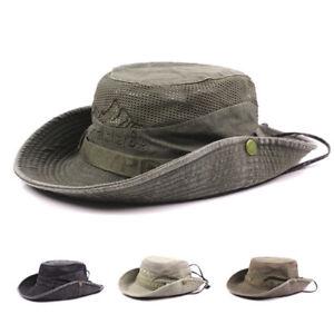 3657d716bf0 Image is loading Men-Summer-Embroidery-Visor-Bucket-Hats-Fisherman-Hat-