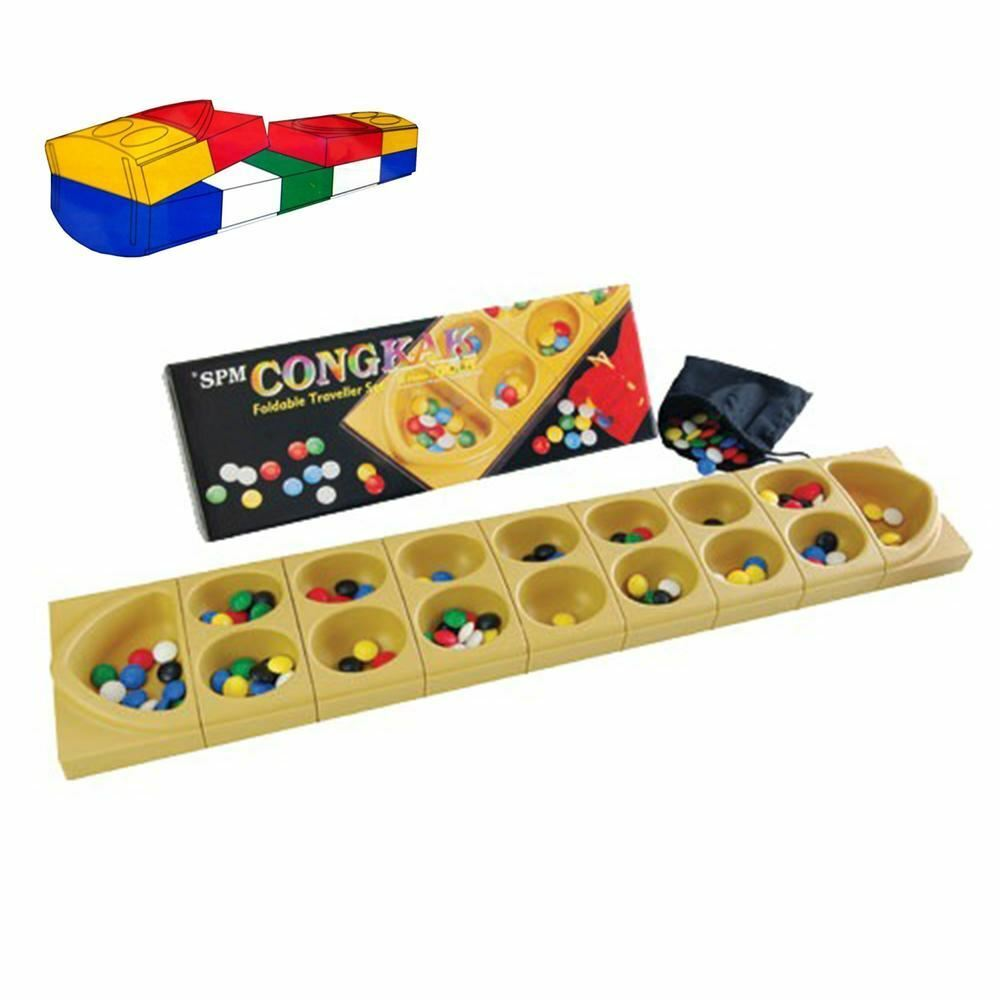 [SPM GAMES] [SPM112] CONGKAK gold Counting Game Foldable Edition Traveller Set