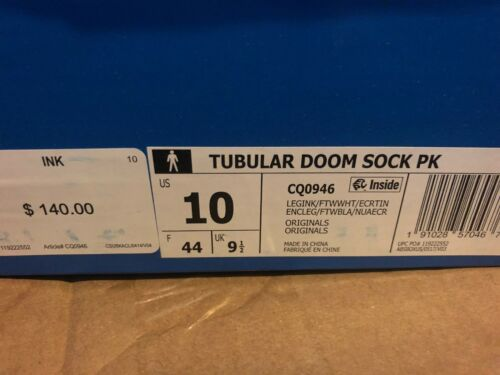 10 Tubular Sock Doom Bnib Pk Weiß Adidas Cq0946 Schwarz Grau Größe 7pq6wnzz