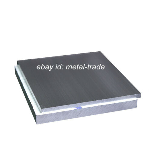 2pc 100x100x4mm ALUMINUM 6061 Flat Bar Flat Plate Sheet 4mm Thick Cut Mill Stock