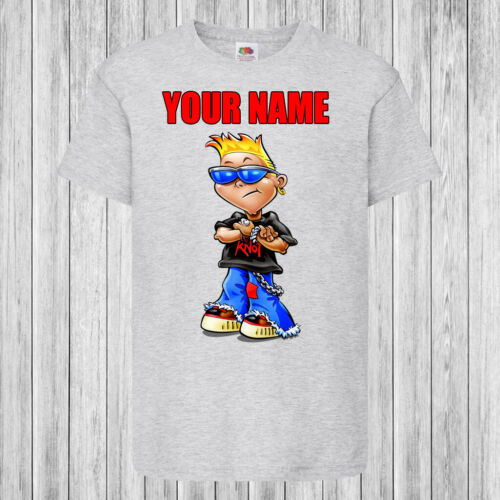 Personalized with name Kids T-Shirt DTG Rock Star Kid Children
