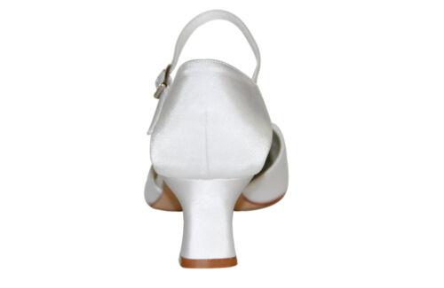 HBH Satin Brautschuhe,innen weich gepolstert,mit zartem Lederriemchen,5cm Absatz