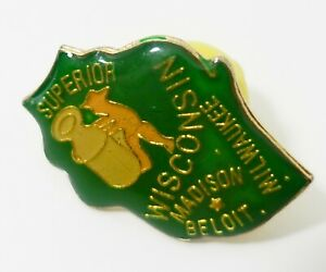 Vintage Wisconsin State Seal Lapel//Hat Pin   s153
